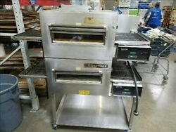 Lincoln Impinger 1132 Double Stack Electric Conveyor Pizza Sub Oven (2) Deck