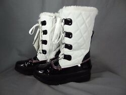 Totes white black Winter Boots for kids Zip up on side size 13 $20.99