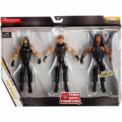 WWE ELITE THE SHIELD FIGURES THEN NOW FOREVER 3 PACK REIGNS ROLLINS AMBROSE