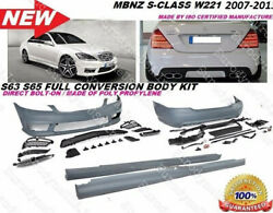 MBenz 07-13 W221 S Class S65 S63 AMG Style Front Rear Bumper Body Kit S550 S600