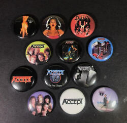 Accept 1 Pin Button Lot Heavy Metal Udo Balls To The Wall Rock German Thrash