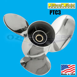 Size 14 1/4 X 16 Volvo Sx 3 Blade Stainless Steel Propeller Power Tech Prop