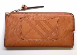 NEW WOMEN'S BURBERRY BRIT LEXI BROWN LEATHER WALLET