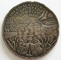 1889 Silver Germany Naval Review At Spithead Emperor William Ii Medal