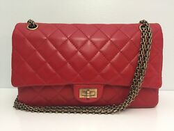 Chanel Red Lambskin 2.55 Reissue 226 Classic Flap Bag