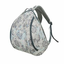 ECOSUSI Large Baby Diaper Backpack Changing Bag Colorful Grey Flower