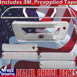 2015-2017 Ford F150 Chrome Door Handle Covers No Smart+3rd Brakelight+tailgate R