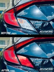 For 16-2020 Civic Red Tail Light Rear Signal Reverse Vinyl Overlay Precut Tint