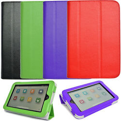 Genuine Leather Case Cover Folio Stand For Barnes Noble Nook Hd 7 Inch Tablet