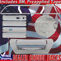2015-2018 Ford F150 Chrome Door Handle Covers+gas+tailgate+brakelight Wsmrtkeyho