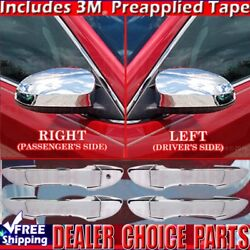 For 2014-2018 Toyota Corolla Chrome Door Handle Covers Nosmrtkh+mirrors Nots