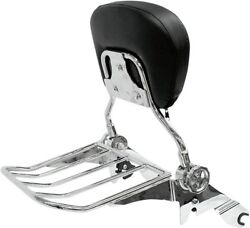 Rivco Products Mv175 Hd Quick Detach Backrest And Luggage Rack For 2014 And Newer