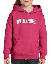 Nh Flag Manchaster Concord Map Wildcats Home University Of Youthandkids Hoodie