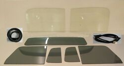 Glass 1951 1952 1953 Chevy Gmc Pickup Cl Windshield Grey Vent Door Back Seal W/o