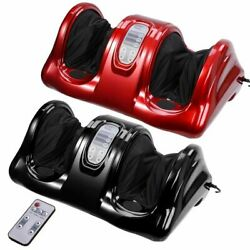 Shiatsu Foot Massager Kneading Rolling Leg Calf Ankle Machine W/remote Black/red