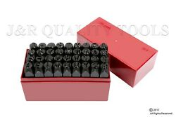 36pc 3/8 Steel Metal Punch Letter And Number Stamp Stamping Kit Set Plastic Case