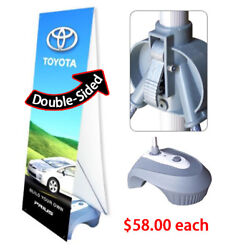 Double Sided Outdoor Adjustable X Banner Stand Water Base Trade Show Sign 20 Pcs
