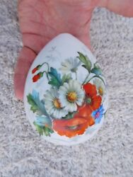 Incredible Imperial Russian 19TH Century Flowers Porcelain Signed Easter Egg !
