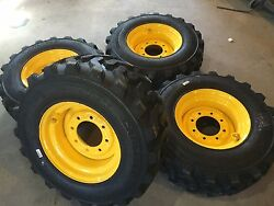4 New Hd 12x16.5 Carlisle Trac Chief Tires And Rims For New Holland-12-16.5-12 Ply