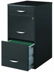 Charcoal Gray Black 3 Drawer File Cabinet Filing Cabinets Office Steel Locks New