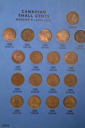 Complete Set Of Canada Small Cents Nice Condition In Whitman Folder Inv C-30