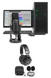 SAMSON G-Track Pro Studio USB Condenser Microphone Mic + Interface + Headphones