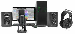 SAMSON G-Track Pro Studio USB Condenser Microphone+Interface+Headphones+Monitors