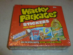 WACKY PACKAGES SERIES 1 2004 SEALED WAXBOX STICKERS TATTOOS TOPPS 24 PACKS NIB