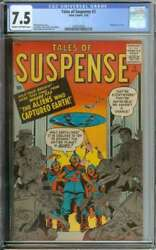 Tales Of Suspense 3 Cgc 7.5 Cr/ow Pages // Pre Hero Flying Saucer Cover