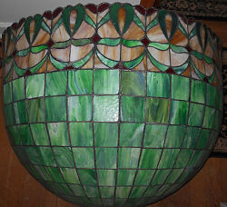 Antique Demilune Leaded Glass Wall Sconce40 Wide X 29 Highmagnificent Piece