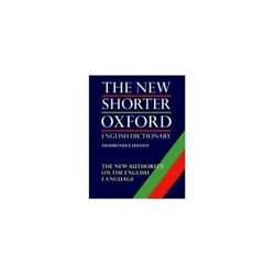 The Shorter Oxford English Dictionary 2 Volumes 0198611277 The Fast Free