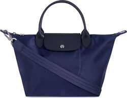 France Made Longchamp Le Pliage Neo Small Handbag Navy Blue Auth Special Offer