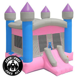 Commercial Bounce House 100 Pvc Inflatable Princess Castle And Blower - Girls