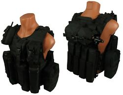 Molle Paintball Milsim Vest Army Modular Airsoft Army Chest Rig Kit №62 Black