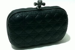 Black Womens Cross Logo Leather Handbag Clutch Evening Bag Chain Purse Party