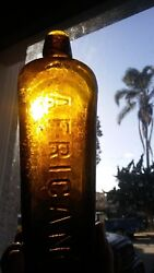 Shipwreck Treasure Large Antique Early Hand Blown Cast African Gin Bottle