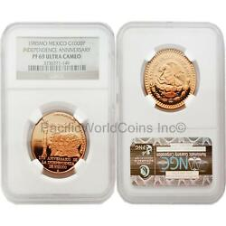 Mexico 1985 Independence Anniversary 1000p Gold Ngc Pf69 Ultra Cameo Sku2814