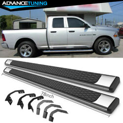 Fits 09-18 Dodge Ram Quad Cab 78inch Ram Oe Style Nerf Bars Running Boards Ss