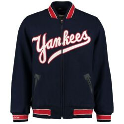 New York Yankees Mitchell And Ness 1951 Authentic Vintage Wool Varsity Jacket Men