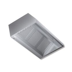 Hood 300x140x45 Stainless Steel Wall Engine Kitchen Restaurant Rs7327
