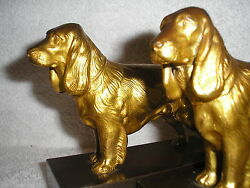 Very Rare Jennings Brothers Cocker Spaniels Bookends.