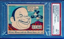 1935 R90 Mickey Mouse With The Movie Star 117 Wallace Beery Psa 7