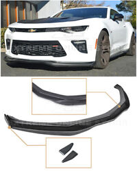 For 16-up Camaro All | T6 Style Front Bumper Lip W/ Carbon Fiber Side Splitters
