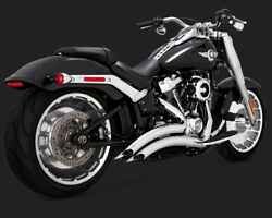 Vance And Hines 26075 Big Radius Chrome Exhaust Softail Fatboy Breakout And03918-and03920