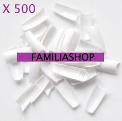 500 Tips Capsules White Fake Nails Uv Gel A Small Notch