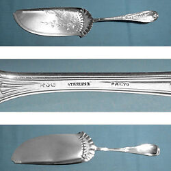 Gorham Sterling Large Solid Bright Cut Fish Serving Knife Hindostanee No Mono