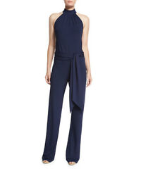 NWT Michael Kors Collection  Jersey Halter Jumpsuit with Sahs  426