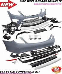 W222 S63 S65 Amg Style S Class Front Bumper Rear Bumper Grill Tips S550