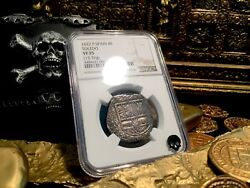 Spain 4 Reales Andldquodated 1622andrdquo Atocha Year Silver Pirate Coin Treasure Doubloon