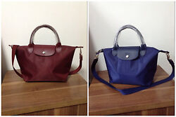 France Made Longchamp Le Pliage Neo Small Handbag Auth Navy/wine Special Offer